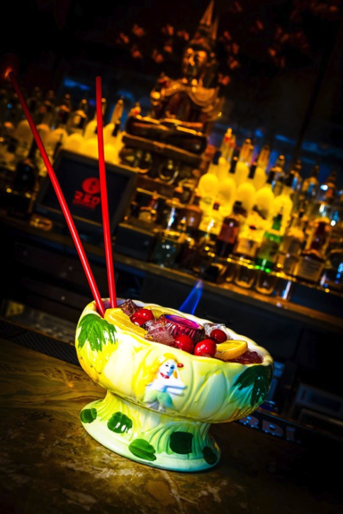 Red Lantern Restaurant & Lounge (Scorpion Bowl pictured) has a location in Boston's Back Bay neighborhood and at Foxwoods.
