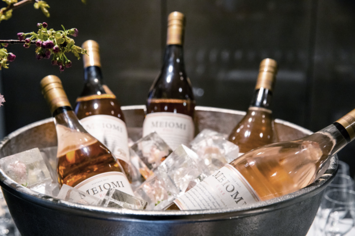 Meiomi (bottles pictured) relies on tri-appellation sourcing, with all of its wines made with grapes from Monterey, Santa Barbara, and Sonoma. Central Coast sub-AVAs have gained prominence in recent years thanks to the success of brands like Meiomi.