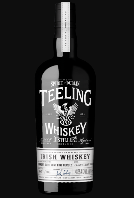 Teeling Irish Whiskey released a limited-edition bottling, Teeling Front Line Heroes, with all profits benefiting a range of charities that support front line workers battling the coronavirus.