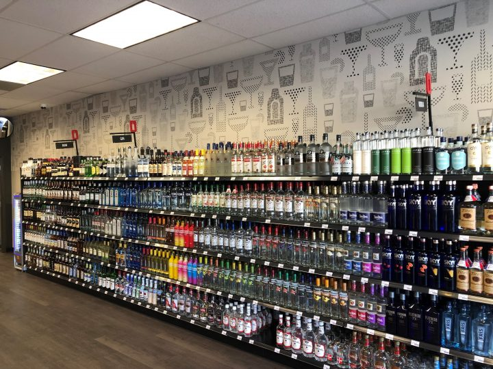 Ohio's spirits sales (Belpre, Ohio agency store shelves pictured) were up 14% year-on-year in February to $76.7 million.