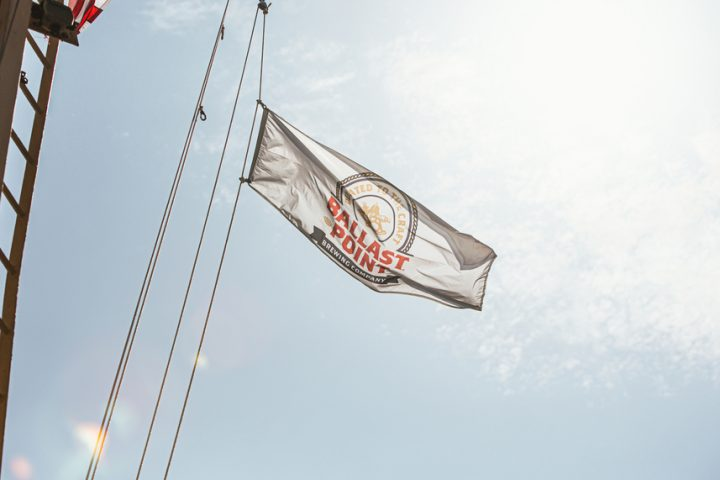 International sales of Ballast Point (flag pictured) beer are second only to those of California, with South Korea, Australia, New Zealand, Sweden, China, and Japan among the leading export markets.