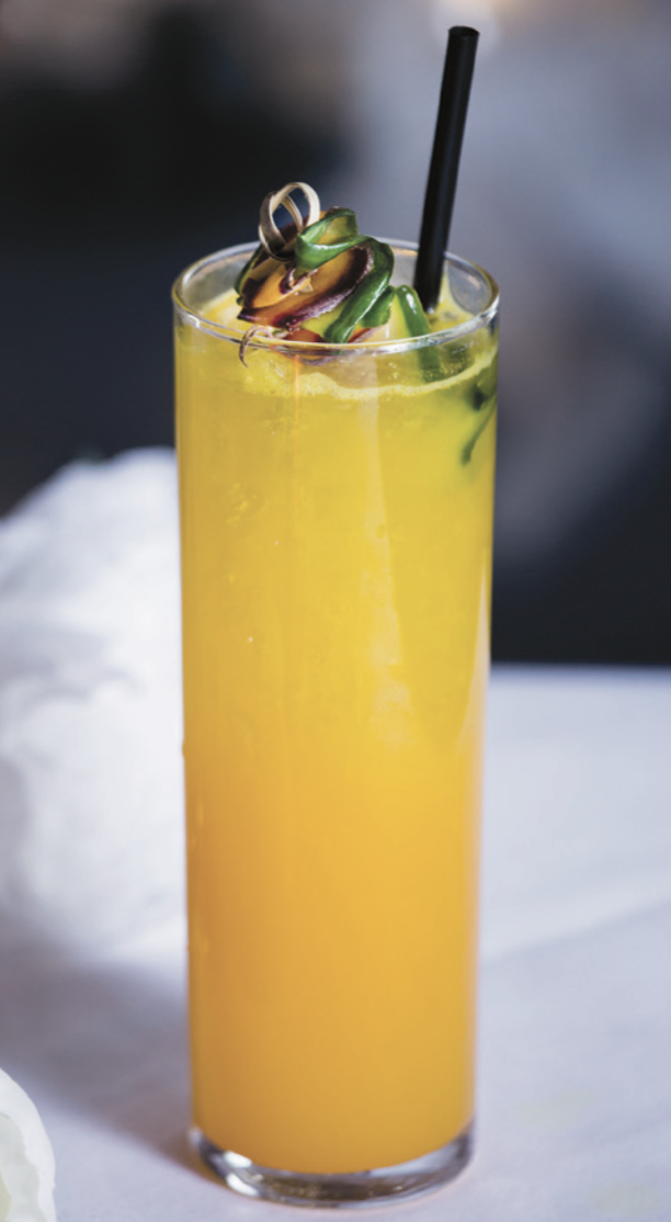 Turmeric is a popular addition to modern cocktails, thanks to its unique flavor. At Crustacean in Beverly Hills, California, the Turmeric Mule (pictured) mixes the spice with gin and ginger.