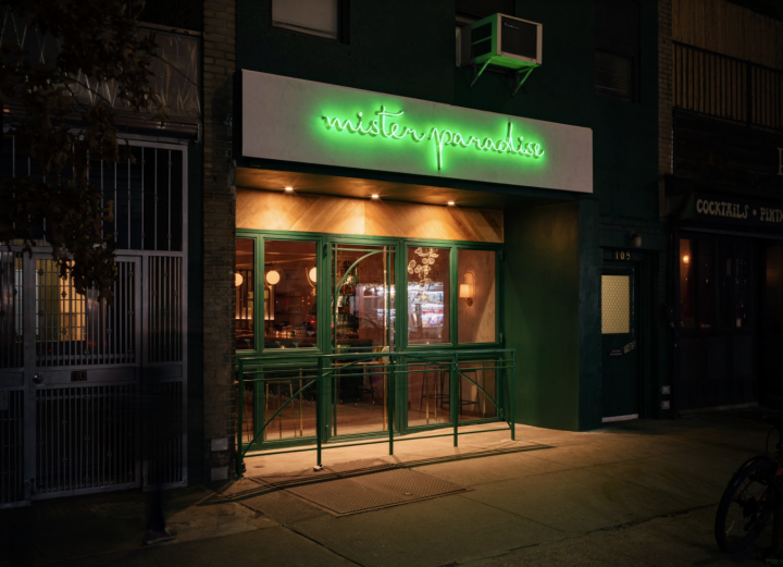 """East Village cocktail bar Mister Paradise temporarily turned itself into a liquor store, """"Paradise Wines & Liquor,"""" to ride out the Covid-19 crisis."""