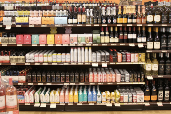 Fine Wine & Good Spirits stores in Pennsylvania (Hanover wine shelves pictured) have been highly affected by the Covid-19 crisis, originally shuttering on March 17 and reopening to online sales April 1.