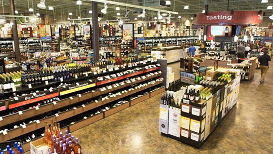 The latest application denied by the SLA was for a Total Wine & More (Westbury interior pictured) mega-store in the borough of Queens in New York City, brought by Michelle Trone, daughter of Total Wine founder David Trone.