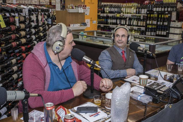 Randall Bird (left) and Ryan Maloney (right), are co-hosts of the New England radio show It's The Liquor Talking, which airs every Saturday morning.