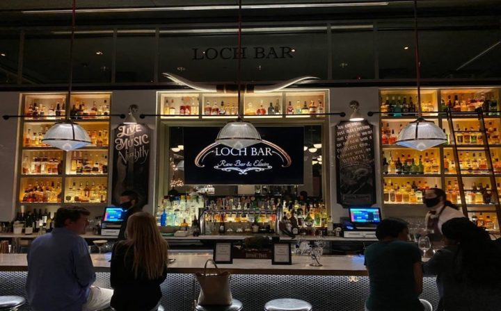 Baltimore-based Atlas Restaurant Group—which also operates venues in Texas and Florida—furloughed 1,000 employees at the onset of the Covid-19 pandemic. The group began reopening first in Texas and Florida before regulations eased in Baltimore (Loch Bar pictured).