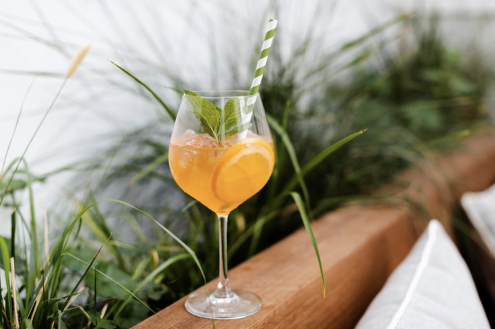 With spritzes surging in popularity, Laguna Beach, California's Hotel Joaquin offers its signature Auric Spritz (pictured) year-round.