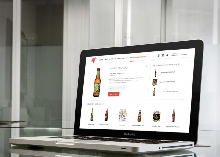 Drizly (website pictured) has seen a sales spike in the wake of the Covid-19 pandemic, as consumers stuck at home turned to retailers for beverage alcohol deliveries.