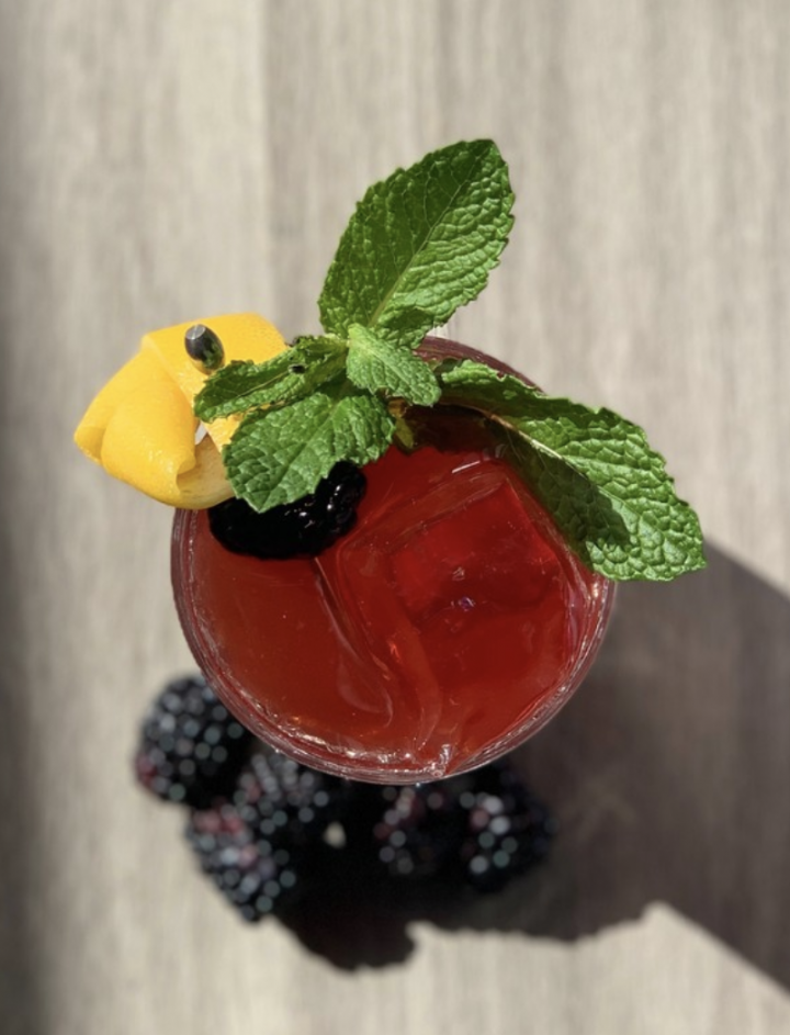 The Amaro Highball (pictured) from Billy Sunday in Chicago is a blend of blackberry-infused Braulio and house-made blackberry soda, garnished with fresh mint.