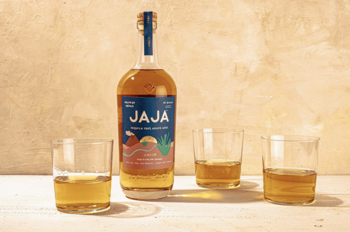 Jaja Tequila (bottle pictured) debuted in 2018. Imported by Shaw-Ross International, the brand highlights the millennial enthusiasm for Tequila, particularly at more elevated priced points.
