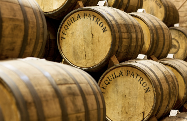 Aged Tequilas are playing an increasingly important role for many brands, including stalwart Patrón (barrels pictured), which unveiled a new aging facility last year.