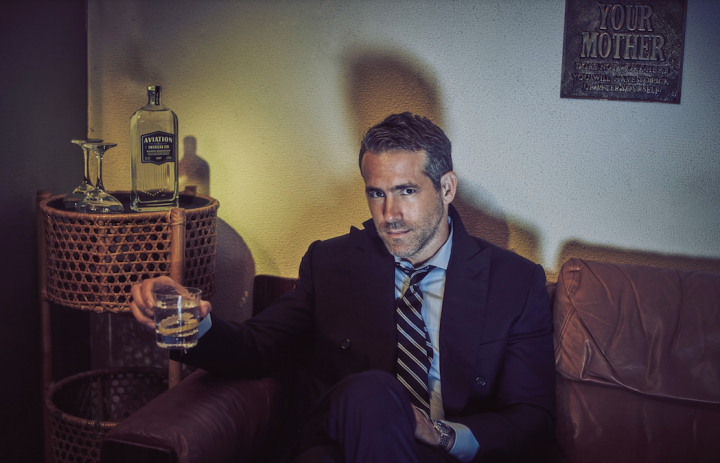 Actor Ryan Reynolds (pictured) partially owns Aviation gin. Lately, more and more celebrities are partnering with spirits brands.