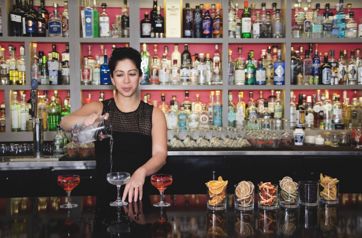 Craft producers are making waves in the gin category, which has been slipping for decades. Natasha Bahrami (pictured), founder and owner of The Gin Room in St. Louis, sees consumers abandoning traditional sweet gin drinks for more innovative, savory ones.
