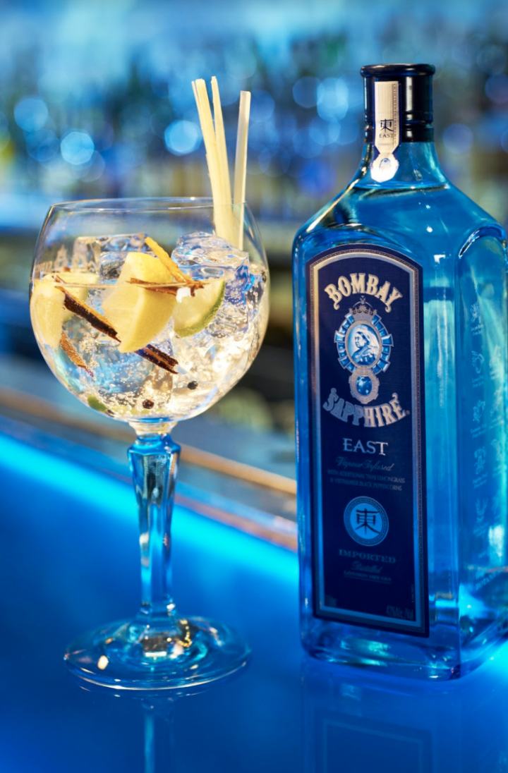 Bacardi-owned Bombay (bottle and cocktail pictured) has stoked success with social media campaigns like Stir Creativity and #FindYourCanvas.
