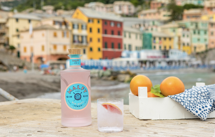 One of the major, recent innovations in the gin category is pink gin, spurred by the rosé craze. Malfy Rosa (pictured) is seeing success in this space, which has encompassed such diverse botanicals as rose, grapefruit, strawberry, and pink peppercorn.