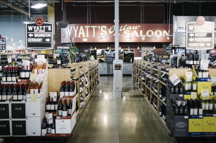 Wyatt's Wet Goods (interior pictured) in Longmont, Colorado has seen canned wine sales more than double in the past year.