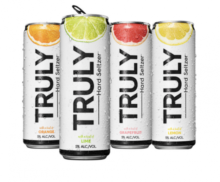 Boston Beer Co.'s Truly hard seltzer brand (cans pictured) is one of the leaders in the ever-growing hard seltzer space. Its strong sales, in fact, have helped Boston Beer offset declining sales of Sam Adams Lager and Angry Orchard.