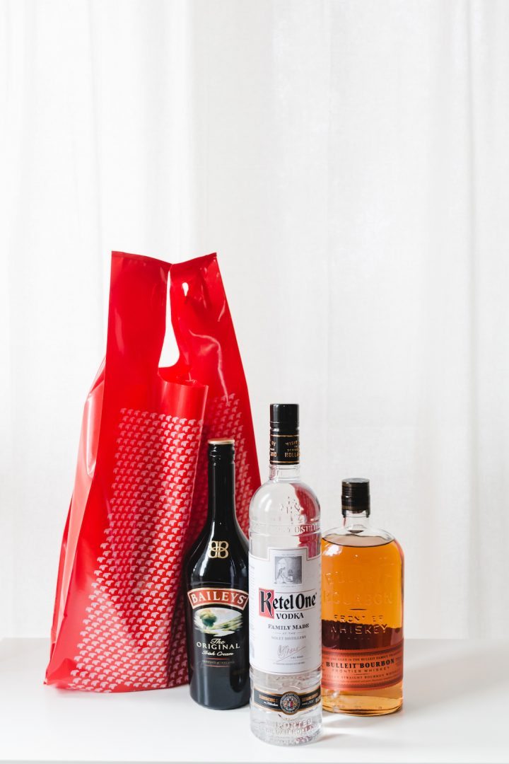 Recently, more and more states are changing their beverage alcohol laws to allow for home delivery (bottles pictured).