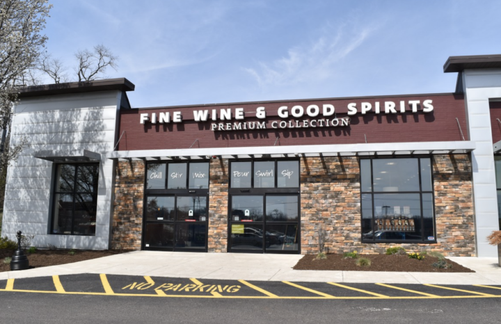 The PLCB (Fine Wine & Good Spirits store pictured) implemented a curbside pickup program in April and has succeeded with online sales.