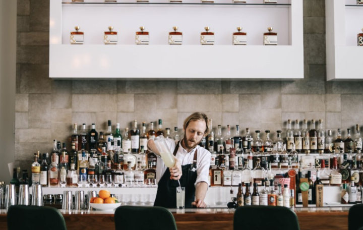 While on-premise and consumer-facing activities (Bardstown Bourbon Co.'s tasting bar pictured) have been impacted by Covid-19, Bourbon has seen dramatic growth at the retail tier in 2020, with brands continuing to premiumize and the innovation pipeline moving at a rapid pace.