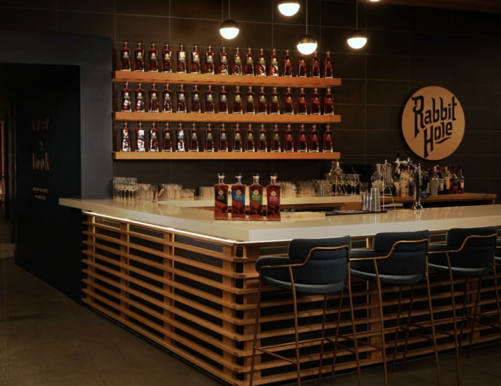 Bourbon's boom endures thanks to continued expansion. Lux Row Distillers is currently building its fourth of six planned rickhouses to ultimately hold 100,000 barrels, while Rabbit Hole Distillery (tasting bar pictured) will have a nationwide footprint this fall.