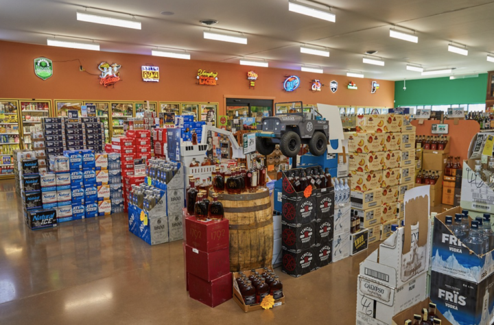 21st Amendment's success over the years has often been defined by Indiana's beverage alcohol retail regulations. For example, only liquor stores are allowed to sell cold beer—but efforts to change that law could be successful, so 21st Amendment (beer section pictured) aims to be less dependent on beer sales.