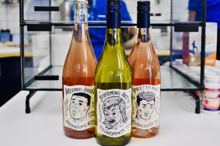 Natural wines (Delinquente Wine Co. bottles at Mendez Fuel pictured) are currently seeing increasing popularity with U.S. consumers.