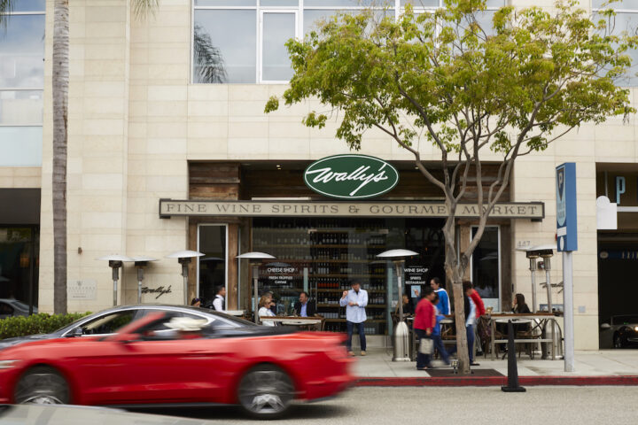 Navarro introduced Wally's first hybrid retail-restaurant venue in Beverly Hills (exterior pictured) in 2014.