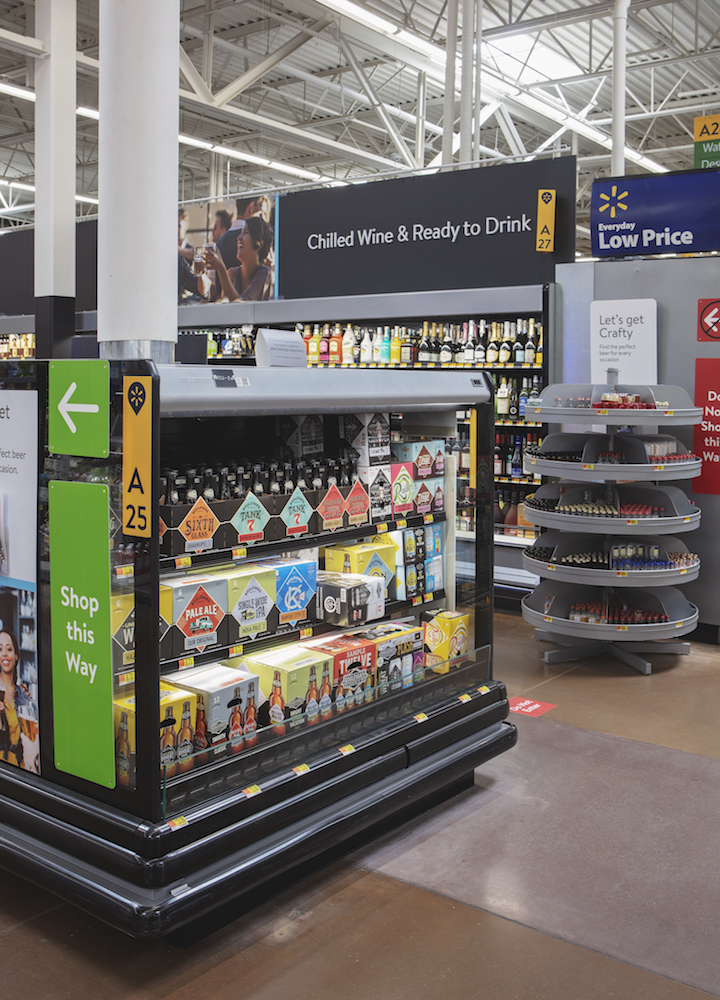 Fremstad says that the expanded range carried at Walmart has allowed the staff to dig into the craft beer assortment (pictured).