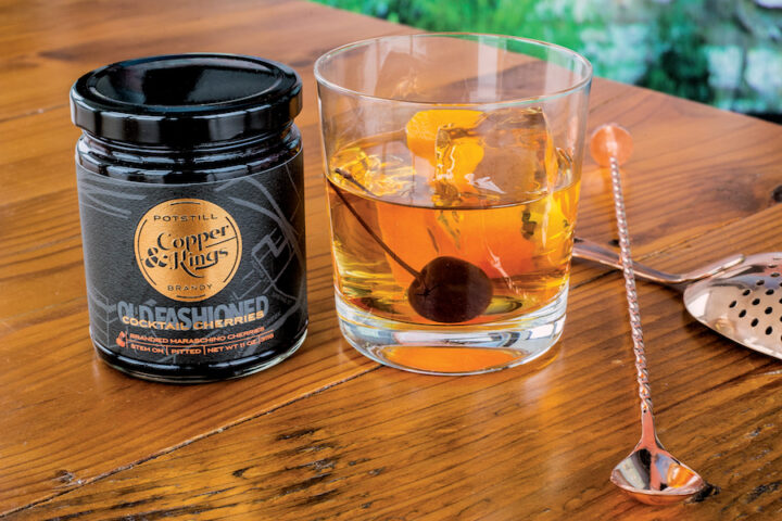 Heron says that Copper & Kings Old Fashioned brandied cocktail cherries (pictured) have been popular, largely because not many craft distilleries enter the drink modifier space.