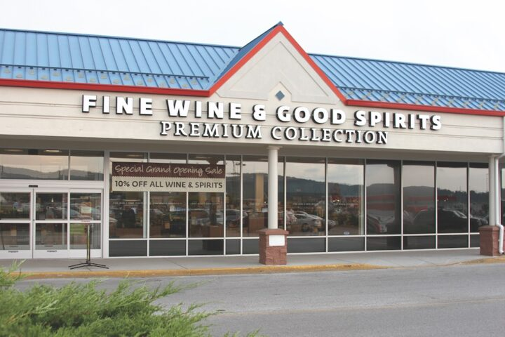 When considering sites for new stores, the PLCB looks for convenient locations with easy access and plentiful parking (Hanover, Pennsylvania Fine Wine & Good Spirits location pictured).