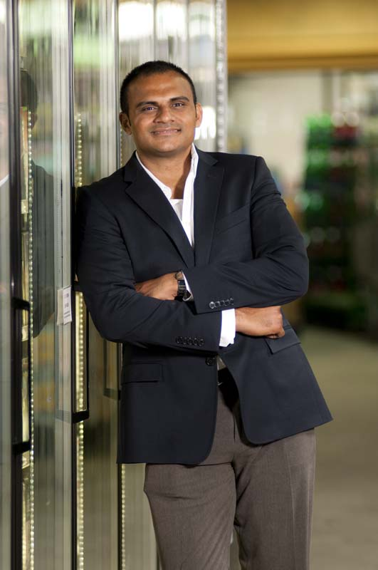 Adithya Bathena (pictured) is the owner and president of Jersey City's Super Buy-Rite Wine & Liquor and CEO of the overall Buy-Rite Corp. He joined the business 17 years ago.