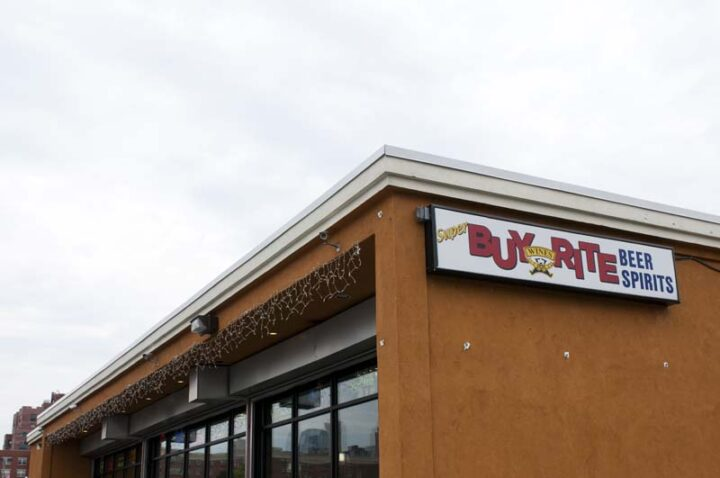 When it's safe to do so, Bathena will get Super Buy-Rite (exterior pictured) back on track with the high-end wine dinners and other events it had to forgo in the face of the pandemic..