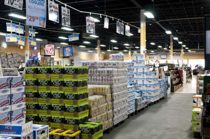 Craft brews have long been the focus of Super Buy-Rite's beer section (pictured). The store stocks 6,000 beer SKUs, from local IPAs to mainstream offerings. Lately, hard seltzers like White Claw have also been trending.