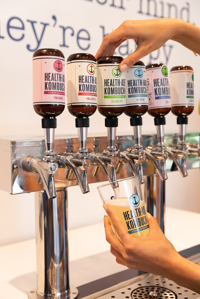 Health-Ade (tap pictured), one of the top brands in the non-alcoholic kombucha space, is now gaining a foothold in the cocktail world.