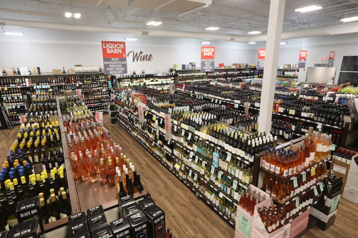 Wine (aisles pictured) accounts for about a quarter of sales across Blue Equity's retail chains.