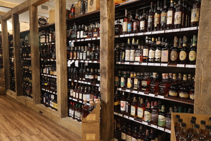 Based in Louisville, Kentucky, Blue Equity's 15 Liquor Barn, two Party Mart, and three DEP's Fine Wine & Spirits stores are renowned for their Bourbon selections (Liquor Barn Springhurst Bourbon shelves pictured), which focus on both craft and major players.