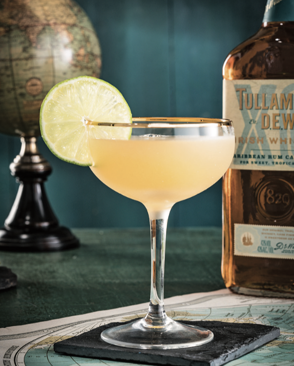 Tullamore D.E.W. (Royal Bermuda Yacht Club cocktail pictured) is succeeding thanks to premiumization and new releases like XO Rum Cask Finish.