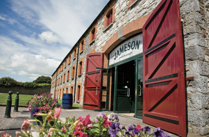 Jameson (distillery pictured) dominates the Irish whiskey category with 3.7 million cases in the U.S.