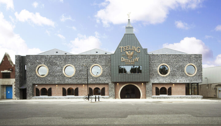 Newer Irish whiskey brands like Teeling (distillery pictured) are seeing a spike in popularity.