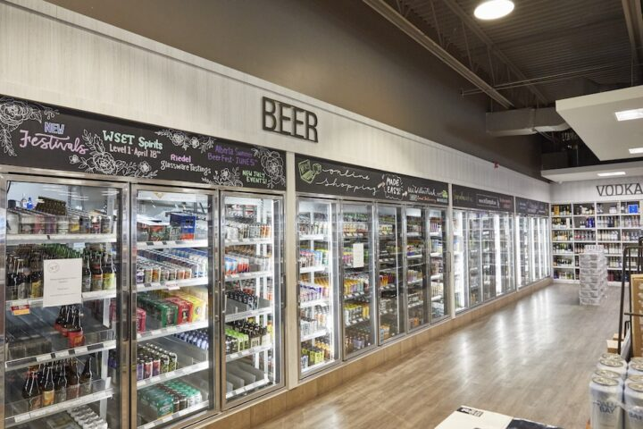 Willow Park Wine & Spirits focuses its beer department (coolers pictured) on Canadian labels like Alexander Keith's and Molson, which tend to sell well among Alberta residents. In all, the company stocks around 5,000 beer SKUs.