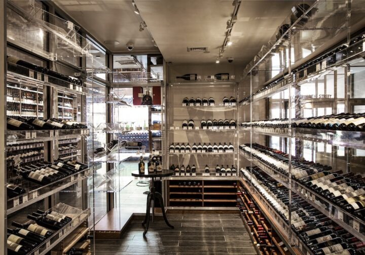 Some of the most luxurious of Morrell's wines, including limited Bordeaux, Burgundy, and Napa Valley offerings, can be found within its wine vault (pictured), which is set apart from the rest of the store's selection. In all, Morrell's wine inventory is worth around $10 million.