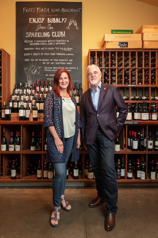 Debbie Zachareas and Peter Granoff (pictured) curate an impressive selection of wine and spirits at their San Francisco and Napa Valley stores, all of which feature wine bars.