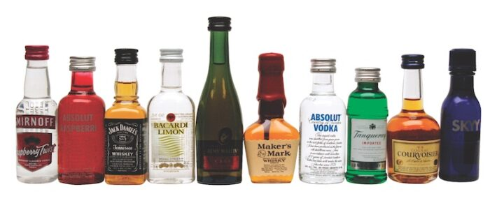 Small 50-ml. spirits bottles have become outlawed in Massachusetts due to a public policy resulting in a major litter problem.