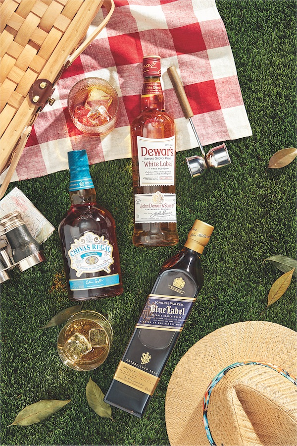 Despite showing strength at the retail tier, the overall issues faced by the blended Scotch category are highlighted by top labels like Johnnie Walker, Dewar's, and Chivas Regal (bottles pictured), which all declined in 2019.