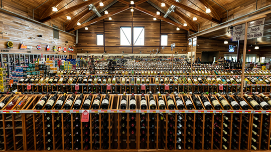 At Happy Harry's Bottle Shops (pictured) in North Dakota, consumers turned to trusted brands during their shopping sprees during Covid-19.