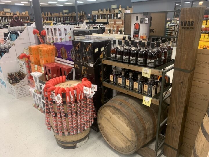 In addition to gift sets and sale items, Mid Valley stocks a collection of private-barrel Bourbons, which are incredibly popular with the store's customers.