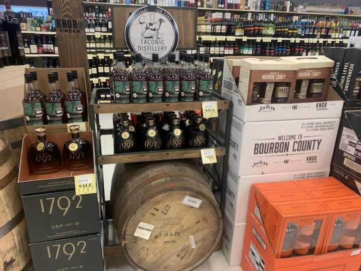 Mid Valley Wine & Liquor in Newburgh, New York is working overtime to keep popular items such as Bourbon and other whiskies in stock.
