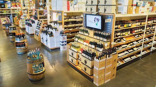 At Gary's Wine & Marketplace (pictured), consumers spent more per bottle in 2020 as they enjoyed more wine at home.